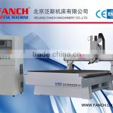 4 Axis U shape materials cnc machining center for chair rest and other curved materials.