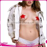 Hexinfashion Wholesales Sexy Underwear Accessories sexy sequin nipple cover pasties for men
