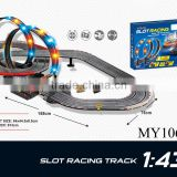 1:43 railway with model racing car,speed race, perimeter 913cm, electric(B/O) plastic toys