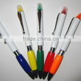 Promotional Highlighter Ball Pen with metal clip/ Ball Pen with Highlighter /Highlighter Ballpen