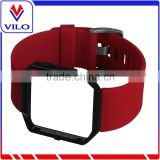 Soft Silicone Wrist Watch Band Replacement Sport Strap For Fitbit Blaze Smart Watch+Metal Frame