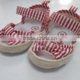Soft sole espadrille baby shoes baby sandal