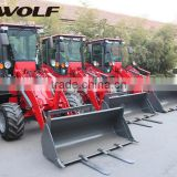 High productive 1T WOLF ZL10F small snow blower wheel loader with standard bucket,Euro 3 standard engine,37kw