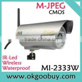 waterproof IP67 1.3Mega Pixel IR P2P plug and play wireless ip camera, viewerframe mode network camera