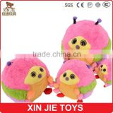2015 nice design animal shape plush mascot toy fat bee soft mascot toys cute big size mascot dolls