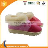 Italian PU leather winter shoes lady and girl snow boots