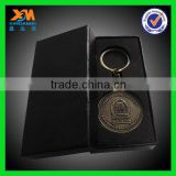 best quality bronze die casting plastic coin holder keychain (xdm-c477)