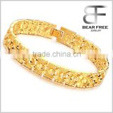Luxury Gold Plated New Listing Love Honorable Bracelets Chain Link Bangle Gold Bracelet for Men