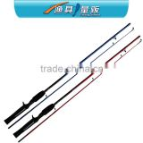 Popular 2pcs Section Fiberglass Spinning Fishing Rod