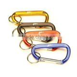 D Shaped Aluminum Carabiner with Keyring
