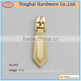 Hight quality factory price bag ,handbag hardware fitting ,metal zipper slider for garment accessories