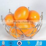 Trade assurance Factory wholesale stainless steel metal wire fruit basket handmade fruit stand