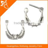 Indian Nose Ring Fake Septum Piercing Clip On Ring Nose Clicker Hoop Cartilage Earring Body Jewelry with Pink Zircon
