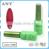 ANY Nail Beauty Salon Using UV Gel Nail Curing Soak Off Red Matte Gel Polish for Nail Art