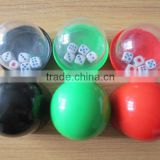 acrylic colorful Casino poker dice cup