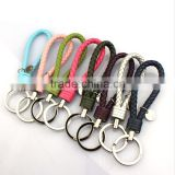 wholesale colorful leather keychain custom colorful key string Personalized car key lanyards