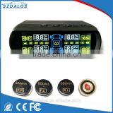 Car Wireless Solar Tire Pressure Monitoring System with External Sensor DIY digital pressure gauge