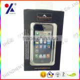 Top quality electronics packing box for samsung galaxy s4 packaging box with clear window plastic tray inside