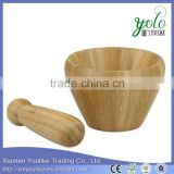 creative mini household Bamboo Mortar and Pestle                                                                         Quality Choice