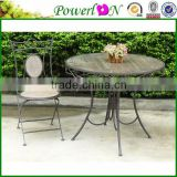 Wholesale Classic Unique Design Metal Vintage Outdoor Table Garden Furniture For Picnic