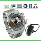 Gauntlet - Stainless Steel Quad Band Watchphone + MP4