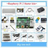 (Pi included) Raspberry Pi 2 Model B 1GB RAM Starter kits pi box cable leds breadboard Pi Cobbler Breakout Kit GPIO KIT021