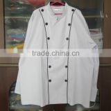 black piping buttons chef uniform,executive chef uniform