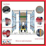 Warehouse Storage Logistics Equipment High Density Drive in Rack Steel Pallet Racking ISO CE Professional Factory