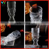 Custom Soccer World Cup Handmade High Borosilciate 300ml & 750ml Size Glass Trophy Beer Cup