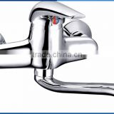 Classic single whole zinc handle brass body kitchen faucet wall mounted chrome plating kitchen mixer