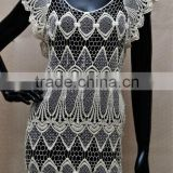 WOMENS CROCHETED HOLLOW-OUT SHIRT LACE TOPS