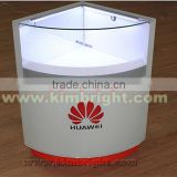 Glass store mobile showcase,cellphone display cabinet, phone accessory display stand