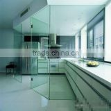 8mm,10mm,12mm Toughened Glass Wall Partition With Modern Kitchen