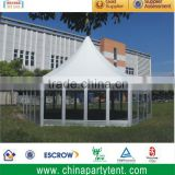 New design hexagon tent with temper glass door & ABS hard walls panels