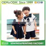 OEM hot style short sleeve japanese school style girl&boy kids school uniforms with free tie