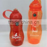 Promotion plastic sport water ice bottle,sport ice bottle with cooler stick,plastic ice bottle with BPA free