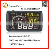 factory supply warning alram /speed multi-function OBD2 car HUD Head Up Display for sale