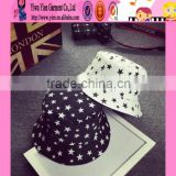 2016 summer alibaba new arrived custom bucket hat star printed special design bucket hat cheap hats