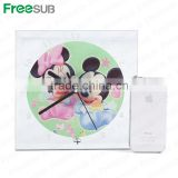 Freesub BL-14 L200*H200*W5mm mirror edge clock sublimation glass clock