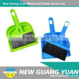 China manufacturer of low price short handle soft sweep easy cleaning bristle plastic broom dustpan