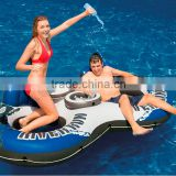 Intex River Run II Inflatable Two Person River Float Tube with Ice Cooler