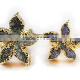 Natural Druzy Agate Stone Fashonable Ring Various Styles Wholesale
