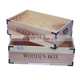 Top grade professional cheap unfinished customized fruit storage large wooden crate box organizer