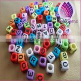 New fashion cube alphabet letter beads 6mm