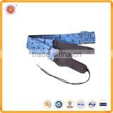 leather guitar strap ends and custom logo cotton material jean guitar strap acoustic guitar strap