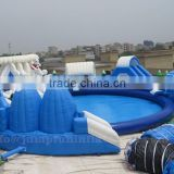 Giant Inflatable Water Park adults and kids Inflatable swimming pool with Large water slide and water toys