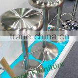 trade assurance 201stainless adjustable rolling stainless steel bar stool/bar stool supplier