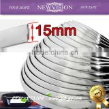 High adhesive gold chrome cover 3M tape car decoration trim