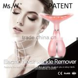 Patented heat vibrator red blue green light treatment neck anti-wrinkle beauty skin lifting equipment