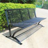 Metal park bench outdoor seat